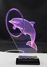 Touch-Lampe Delphin WS2812B LED Effektleuchte mit