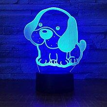 Touch Puppy 3D Nachtlicht Bunte Farbe Schlafzimmer