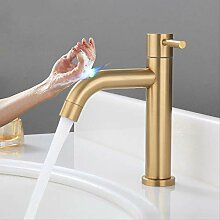 Touch Wasserhahn Senducs Gold Single Cold Basin