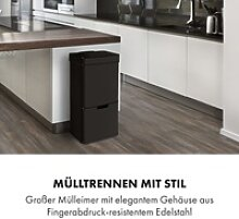 Touchless Black Stainless Steel Müllsammler