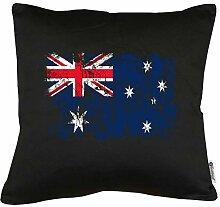Touchlines Australien Vintage Flagge Fahne Kissen