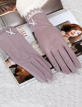 Touchscreen-Spitze Breathable Sonnenschutz-Handschuhe Weibliche dünne Sommer-Frühling Anti-UV-Handschuhe Fahren Sie rutschfeste Handschuhe ( Farbe : 3 )