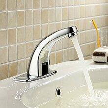 TougBoo automatische Inflared Sensor Wasser sparende Armaturen induktive Küche Badezimmer Waschbecken Waschbecken elektrische Wasser kaltes Leitungswasser, gelb