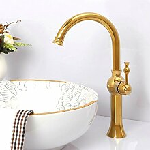 TougBoo Bad Armatur Gold Single Griff Spüle Mixer Tap Bathroom.Single Loch Waschbecken Wasserhahn Faucet.Polished Mt-3617A, Messing, Burgund