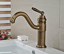 TougBoo Deck montiert Badezimmer Waschbecken Wasserhahn Messing antik Mixer Tap, Chrom, hellgrau