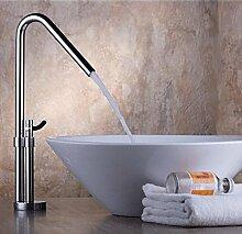 Tougboo Rotary Waschbecken Wasserhahn Küche Spüle Wasserhahn neue Armatur heiße und kalte Becken Steigerung Becken Mischbatterie, Messing
