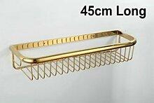 Tougmoo 30 Cm-45 Cm Wand Golden poliert Accessoires Badezimmer Bad Regale, Korb Regal, Gelb