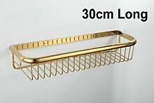 Tougmoo 30 Cm-45 Cm Wand Golden poliert Accessoires Badezimmer Bad Regale, Korb Regal, Weiß