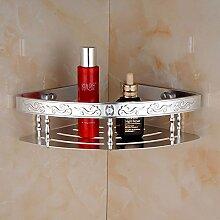 Tougmoo Aluminium Badezimmer Regal Shampoo Seife Kosmetik Regale mit Haken accessoires badezimmer Regal Korb Double Layer, Weiß Single