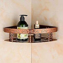 Tougmoo Aluminium Badezimmer Regal Shampoo Seife Kosmetik Regale mit Haken accessoires badezimmer Regal Korb Double Layer, Rose Gold Einzelne