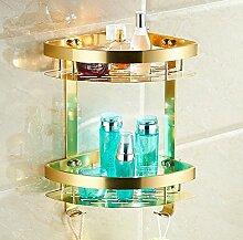 Tougmoo Badezimmer Accessoires, Mode Gold Design Dusche Shampoo & WC Regal-/Wandmontage Warenkorb/Badewanne Badezimmer moderne Möbel