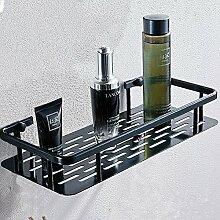 TougMoo Badezimmer Handtuchhalter, Space Aluminium Bad, Handtuchhalter, Badetuchhalter, einpolig schwarz, Einzelregal