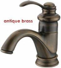TougMoo Classic rot Kupfer Waschtisch Armatur chrom Gold Basin Wasserhahn Antik Bronze Messing, Antik Kupfer