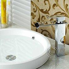 TougMoo Einhebelsteuerung verchromt Wasserfall Armatur Wasserhahn im Bad Badezimmer Tippen Wasserfall LT-504B
