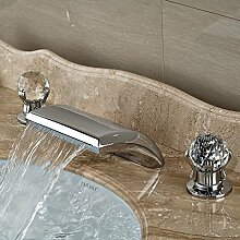 TougMoo Einzigartige Crystal Griff Design Waschbecken Waschbecken Armatur für Bad Chrom, glänzend