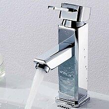 TougMoo Fancy Einhebelsteuerung Badezimmer Waschbecken Mischbatterie mit Heiß Kalt Messing Badezimmer Waschbecken Wasserhahn, nicht mit Hahn, Schlauch