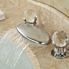 TougMoo Frosch Mund Auswurfkrümmer Design Breite Wasserfall Bad Waschbecken Arbeitsplatte Armatur chrom