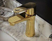 TougMoo Golden Badezimmer Mixer Wasserfall Waschbecken Mischbatterie goldenen Wasserfall tippen Sie auf Gold Mischbatterie Bf 189 Tippen