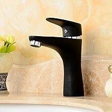 TougMoo Grüne Farbe Waschbecken Mischbatterie mit massivem Messing Badezimmer Waschbecken Armatur von Heiß Kalt Waschbecken Mischbatterie, Schwarz nicht durch Schlauch