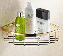 Tougmoo Hochwertige Messing Gold Bad Eckregale Seife Korb Badezimmer accessoires badezimmer Regal Badewanne Shampoo Regal