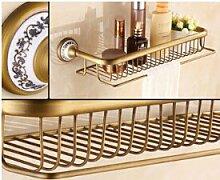 TougMoo Hochwertige Neue Ankünfte insgesamt Messing antik Badezimmer Regal mit Handtuchhalter Badezimmer Shampoo Halter Bad Accessoires,Orange