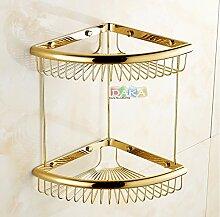 Tougmoo Luxus gold Finish Accessoires Badezimmer Dusche Shampoo & Kosmetik Regal Korb/Messing Dual Design Eckregale