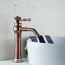 TougMoo Luxus Golden Waschbecken wasserhahn Für einzigen Griff einzelne Bohrung Gold Bad Waschbecken Wasserhahn, höhere