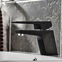 TougMoo Luxus schwarz Badezimmer Waschbecken Wasserhahn mit Top Qualität aus massivem Messing Waschbecken Wasserhahn im Bad Waschbecken Wasserhahn, Farbe: Schwarz