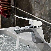 TougMoo Luxus schwarz Badezimmer Waschbecken Wasserhahn mit Top Qualität aus massivem Messing Waschbecken Wasserhahn im Bad Waschbecken Wasserhahn, Chrom Farbe
