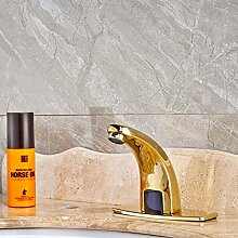 TougMoo Luxus Waschbecken Sinn Wasserhahn mit Loch nur Abdeckplatte kaltes Wasser Deck montiert Gold