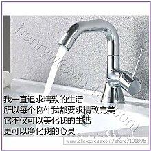 TougMoo Luxus Waschbecken Wasserhahn aus Messing, verchromt Waschtisch Armatur, Waschbecken, Deck montiert, Chrom, Hellgrau