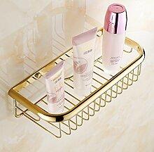 Tougmoo Mode gold Finish Accessoires Badezimmer Dusche Shampoo & Kosmetik Regal Korb/Messing Schmiedeeisen Wandregale