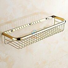 Tougmoo Mode gold Finish Accessoires Badezimmer Dusche Shampoo & Kosmetik Regal Korb/Messing Wandregale/Dusche Rack