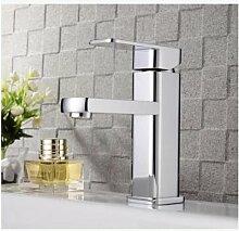 TougMoo Neue Ankunft Messing verchromt Messing Einhebelsteuerung Badezimmer Waschtisch Armatur Waschtisch Armatur Bad Armatur