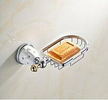 Tougmoo Neue goldene Oberfläche Messing Soap Warenkorb/Soap Dish/Seifenhalter / Bad Accessoires, Badezimmer Regal, Weiß