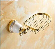 Tougmoo Neue goldene Oberfläche Messing Soap Warenkorb/Soap Dish/Seifenhalter / Bad Accessoires, Badezimmer Regal, Gold