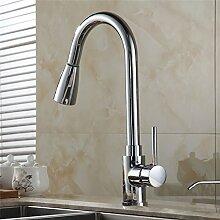TougMoo Neues Design Ziehen Sie Wasserhahn chrom silber Schwenkbare Spültischmischer Küche Wasserhahn Waschtisch Armatur Cozinha 408906