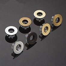 TougMoo Vintage gebürstet Schwarz Gold Silber Bronze Kupfer Waschbecken Überlauf dekorative Abdeckung Waschbecken Überlauf Cap Bad Accessoires Y9, gelb