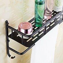 Tougmoo Vintage Style schwarz Accessoires Badezimmer Dusche Shampoo & Kosmetik Korb/Strong Messing Design/Handtuchhalter