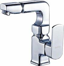 TougMoo Waschbecken mit warmen und kalten Becken Bad Waschbecken Wasserhahn drehbare S130103