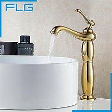 TougMoo Wasserhahn Bad Waschbecken mit warmen und kalten Mischbatterie Goldmessing Badewanne Armaturen Torneira Banheiro