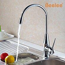 Tourmeler Alle Kupfer Küche Wasserhahn Gemüse Waschbecken Wasserhahn warmes und kaltes Taps Zähler Becken Nickel gebürstet Optional, Weiß