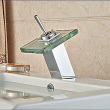 Tourmeler Bad Armatur mit heißem und kaltem Wasser Armaturen Verchromt Deck Moun