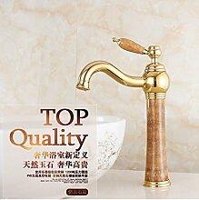 Tourmeler Berühmten Gold Bad Armatur mit massivem Messing Waschbecken Wasserhahn der einzigen Griff Bad goldenen Wasserhahn, Gelb