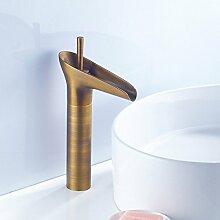 Tourmeler Bleifrei Gesundheit Sanitär Schwarz Antik Bad Armatur mit Öl Bronze schlichten Badezimmer Waschbecken Wasserhahn, Gelb