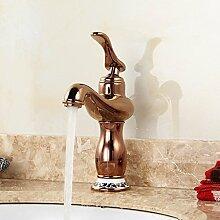 Tourmeler Einzigen Griff Rose Golden Bad Armatur mit Keramik Gold Waschbecken Wasserhahn für Hot Selling goldenen Wasserhahn