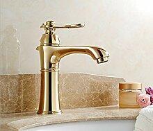 Tourmeler Euro Gold Luxus Badezimmer Waschbecken Wasserhahn Kleine einzigen Griff mit Diamond Eitelkeit Mischbatterie Wasserhahn, Golden