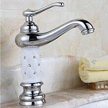 Tourmeler Euro Gold Luxus Badezimmer Waschbecken Wasserhahn Kleine einzigen Griff mit Diamond Waschbecken Mixer Leitungswasser, Chrom