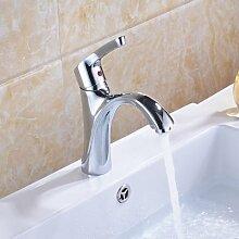 Tourmeler Glanzverchromt Waschbecken Badezimmer Faucet Single Level Mischbatterie, Chrom
