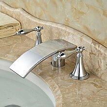 Tourmeler Guter Preis Wasserfall Auswurfkrümmer Waschbecken Armatur für Bad Chrom, glänzend
